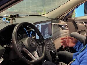 Facial recognition in cabin of car